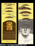Autographs, Baseball Hall of Fame Signed Postcard Lot (11)