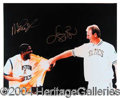 Autographs, Larry Bird & Magic Johnson Signed 16 x 20 PSA/DNA