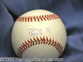 Autographs, Barry Bonds Rare Signed Baseball