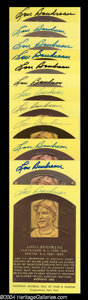 Autographs, Lou Boudreau Lot of 12 Signed HOF Postcards