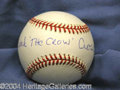 Autographs, Frank Crosetti Unique Signed Baseball