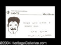Autographs, Mike Ditka Rare Signed Sketch