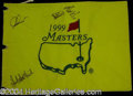 Autographs, Ernie Els Signed Masters Golf Flag
