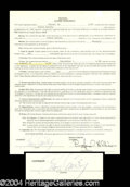 Autographs, Steve Garvey Rare Signed Document