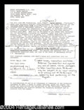 Autographs, Wayne Gretzky Rare Double Signed Document