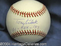 Autographs, Tony Kubek ROY '57 Signed Baseball