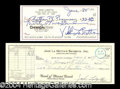 Autographs, Jake & Vikki LaMotta Signed Check Set