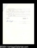 Autographs, Steve Largent Rare Signed Document
