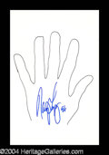 Autographs, Nancy Lopez Signed Hand Sketch