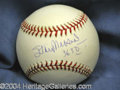 Autographs, Stan Musial Signed Baseball w/ Stats