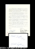 Autographs, Mike Singletary Rare Signed Document
