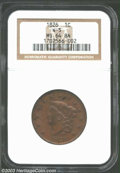 Large Cents: , 1826 MS64 Brown NGC. ...