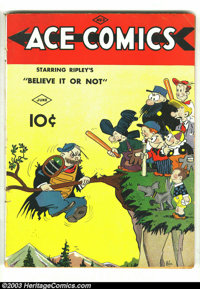 Ace Comics #3 (David McKay Publications, 1937) Condition: VG-. Overstreet 2002 GD 2.0 value = $64; FN 6.0 value = $192...