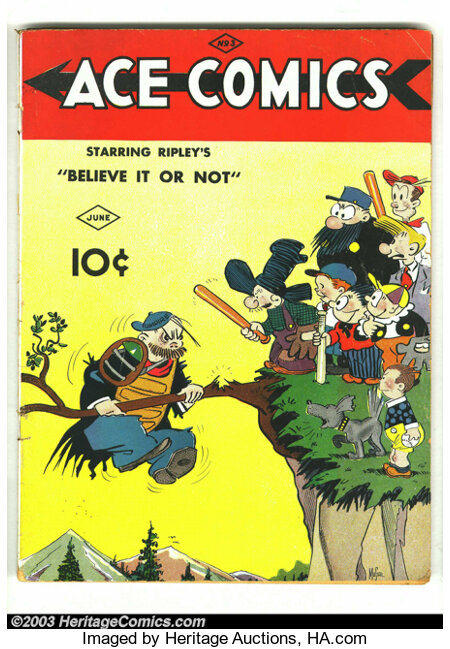 Ace Comics #3 (David McKay Publications, 1937) Condition: VG-. Overstreet 2002 GD 2.0 value = $64; FN 6.0 value = $192....