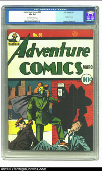 Adventure Comics #60 (DC, 1941) CGC VF+ 8.5 Off-white to white pages. Terrific Sandman cover by Creig Flessel. Siegel/Sh...