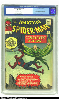 Amazing Spider-Man #7 (Marvel, 1963) CGC G+ 2.5 Cream to off-white pages. Second appearance of the Vulture; Steve Ditko...