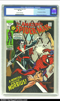 Amazing Spider-Man #101 (Marvel, 1971) CGC VF 8.0 Off-white to white pages. First appearance of Morbius; Gil Kane and Fr...