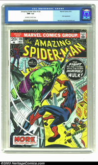 Amazing Spider-Man #120 (Marvel, 1973) CGC NM- 9.2 Off-white to white pages. Hulk appearance; Gil Kane and John Romita a...