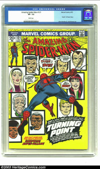 "Amazing Spider-Man #121 (Marvel, 1973) CGC VF- 7.5 White pages. ""Death"" of Gwen Stacy; John Romita Sr. and Gil..."
