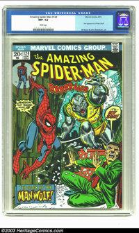 Amazing Spider-Man #124 (Marvel, 1973) CGC NM- 9.2 White pages. First appearance of Man-Wolf; Gil Kane and John Romita S...