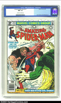 Amazing Spider-Man #217 (Marvel, 1981) CGC NM+ 9.6 Off-white to white pages. John Romita Jr. and Jim Mooney art. Super h...