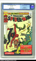 Silver Age (1956-1969):Superhero, The Amazing Spider-Man Annual #1 (Marvel, 1964) CGC VF+ 8.5 Off-white to white pages. First appearance of the Sinister Six; ...