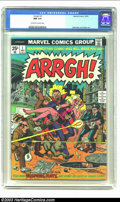 Bronze Age (1970-1979):Humor, Arrgh! #1 (Marvel, 1974) CGC NM 9.4 Off-white to white pages.Sekowsky and Sutton art. Dracula story. Overstreet 2002 NM 9.4...