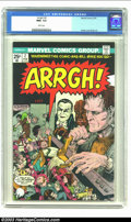 Bronze Age (1970-1979):Humor, Arrgh! #2 (Marvel, 1975) CGC NM+ 9.6 White pages. Alcala, Everett,and Sutton art. Frankenstein story. Overstreet 2002 NM 9....
