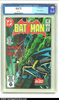 Batman #344 (DC, 1982) CGC NM/MT 9.8 White pages. Poison Ivy appearance. Joe Kubert cover, Gene Colan art. No copy of is...