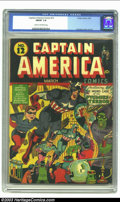 Golden Age (1938-1955):Superhero, Captain America Comics #12 (Timely, 1942) CGC FN/VF 7.0 Cream to off-white pages. From the White Rose Collection; complete w...