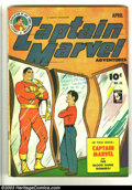 Golden Age (1938-1955):Science Fiction, Captain Marvel Adventures #45 (Fawcett, 1945) Condition: FN.Overstreet 2002 FN 6.0 value = $120....