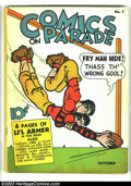 Golden Age (1938-1955):Humor, Comics On Parade #7 (United Features Syndicate, 1938) Condition: VG. Li'l Abner cover. Overstreet 2002 GD 2.0 value = $55; F...
