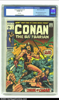 Conan The Barbarian #1 (Marvel, 1970) CGC VF/NM 9.0 White pages. Origin and first appearance of Conan; First appearance...
