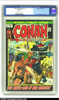 Bronze Age (1970-1979):Miscellaneous, Conan The Barbarian #17 (Marvel, 1972) CGC NM 9.4 Off-white towhite pages. Gil Kane and Frank Brunner cover, Gil Kane art. ...