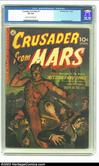 Crusader from Mars #1 (Ziff-Davis, 1952) CGC VG 4.0 Cream to off-white pages. George Roussos art. Only unrestored copy o...