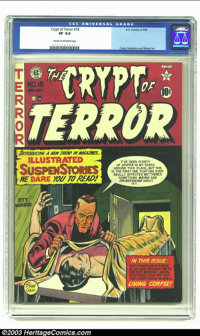 Crypt of Terror #18 (EC, 1950) CGC VF 8.0 Cream to off-white pages. Craig, Feldstein and Wood art. Overstreet 2002 VF 8...