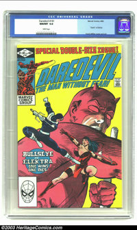 """Daredevil #181 (Marvel, 1982) CGC NM/MT 9.8 White pages. """"Death of Electra"""". Frank Miller cover and art. Highe..."""