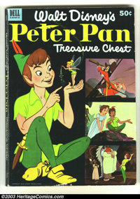Dell Giant Peter Pan Treasure Chest (Dell, 1953) Condition: VG/FN. Rare, giant issue. Overstreet 2002 GD 2.0 value = $90...