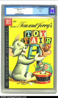 Tom and Jerry's Toy Fair #1 File copy (Dell, 1958) CGC NM+ 9.6 Off-white pages. Dell Giant; Tom and Jerry's Toy Fair #1...
