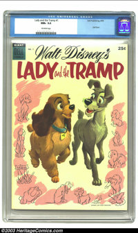 Walt Disney's Lady and the Tramp #1 (Dell, 1955) CGC NM+ 9.6 Off-white pages. Dell Giant; Walt Disney's Lady and the Tra...