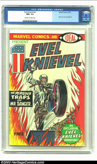 Evel Knievel nn (Marvel, 1974) CGC NM+ 9.6 Off-white to white pages. Ideal Toy Corporation promotional comic book. Highe...