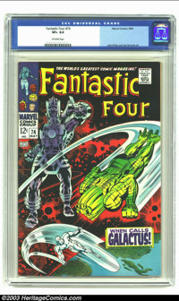 Fantastic Four #74 (Marvel, 1968) CGC VF+ 8.5 Off-white pages. Jack Kirby and Joe Sinnott art. Overstreet 2002 VF 8.0 va...