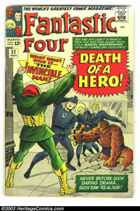 Fantastic Four Group (Marvel, 1964) . Three Silver Age issues of Marvel's bellwether title, all in VG+, including #32, #...
