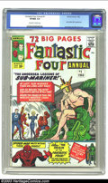 Silver Age (1956-1969):Superhero, Fantastic Four Annual #1 (Marvel, 1963) CGC VF/NM 9.0 Off-white to white pages. Early Spider-Man appearance; Jack Kirby and ...