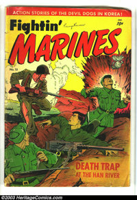 Fighin' Marines 15 (#1) (St. John, 1951) Condition: GD. Matt Baker cover and art. First issue of this title. Overstreet...