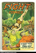 Golden Age (1938-1955):Adventure, Fight Comics #52 (Fiction House, 1947) Condition: VG. Matt Baker artwork. Fantastic Good-Girl headlights and bondage cover. ...
