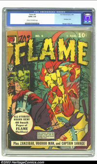 The Flame #6 (Fox, 1941) CGC GD/VG 3.0 Cream to off-white pages. Bondage cover. George Tuska art. Overstreet 2002 GD 2.0...