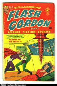 Flash Gordon #3 (Harvey, 1951) Condition: VG. Alex Raymond art. Bondage cover. Overstreet 2002 GD 2.0 value = $22; FN 6...