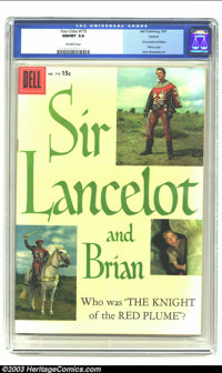 Four Color #775 (Sir Lancelot and Brian) Circle 8 pedigree (Dell, 1957) CGC NM/MT 9.8 Off-white pages. Sir Lancelot and...