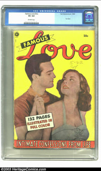 Fox Giants Famous Love (Fox Features Syndicate, 1950) CGC VG 4.0 Off-white pages. Fox Giant. Only copy of the issue to b...